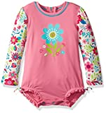 Hatley Baby Girls' Rash Guard, Wall Paper Flowers, 6-9M