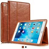 KAVAJ iPad Mini 5 2019 & 4 Case Leather Cover Berlin Cognac-Brown for Apple iPad Mini 5 2019 & 4 Genuine Cowhide Leather with Built-in Stand Auto Wake Sleep Function. Slim Fit Smart Folio Covers