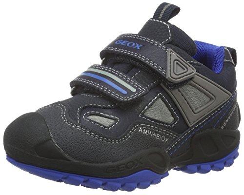 Geox Jungen J New Savage Boy B Abx D Sneakers, Blau (Navy/ROYALC4226), 34 EU