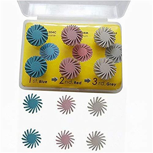 Dental Composite Resin Polishing Disc Polishing Wheel Burs Spiral Flex Brush 6Pcs - Resin Spiral