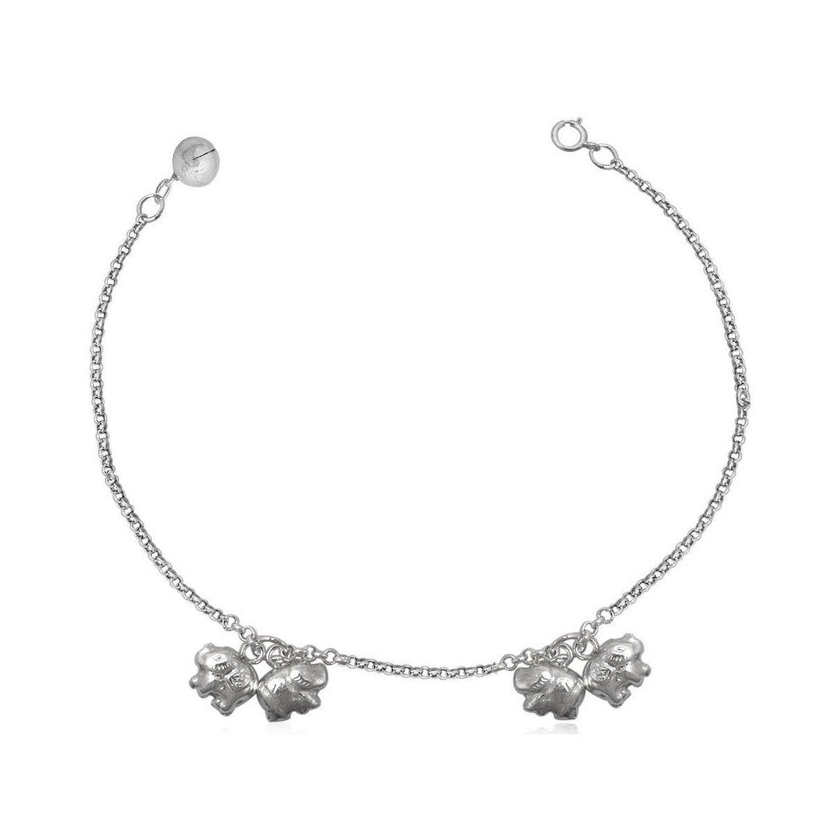 Baby Armband Silber mit Glocken Geschenkschachtel oder Geschenkbeutel