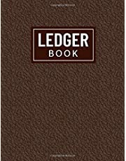 Ledger Book: Debit & Credit Tracker, Simple Accounting Cash Log For Small/Medium Businesses, Basic Bookkeeping Ledger