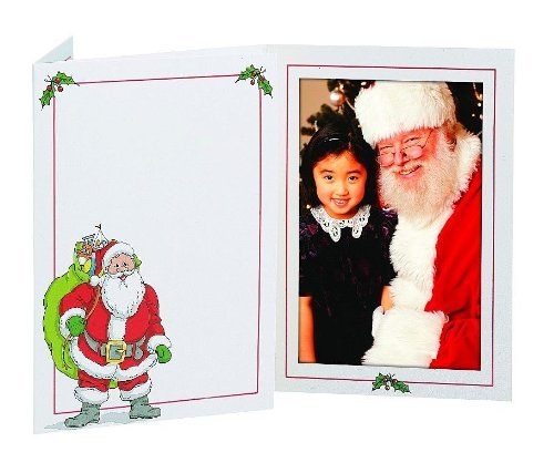 SANTA photo insert holiday folder frame for 4x6 prints sold in 20s - 4x6 by TAP®