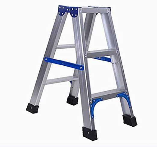 LIZITD Taburete de Escalera, Plata Minimalista Europea, Escalera 3, 4 peldaños, Escalera de ingeniería multifunción de Pedal de Doble Uso Acolchada para Silla (Color : Three Steps): Amazon.es: Hogar