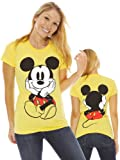 Disney Mickey Mouse Front & Back Graphic Print Juniors T-Shirt