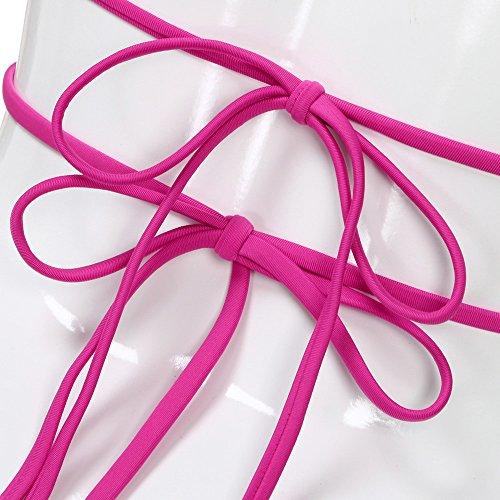Baño Para Hot Conjunto up Bikini Pink Ropa Push De Playa Sujetador Csnk Traje Mujer pqaEnB4