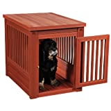 NewAgePet Eco Habitat 'n Home Indoor Pet Crate, Medium, Chestnut