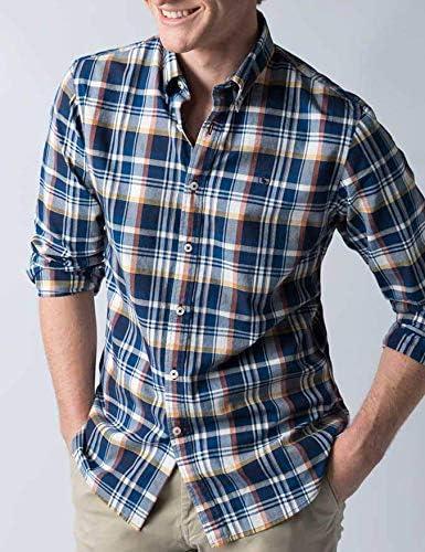 El Ganso Colección Casual Army, Camisa de Cuadros Madrás, para Hombre, Manga Larga, Talla XL, Azul Marino: Amazon.es: Ropa y accesorios