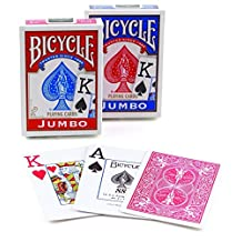 Springbok Bicycle Poker Size Jumbo Index Playing Cards (Colors May Vary)