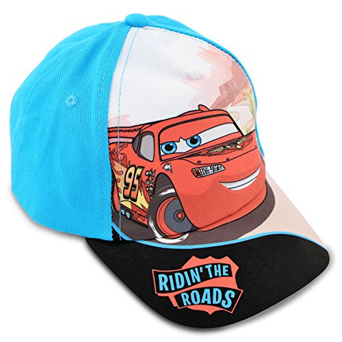 Disney Toddler Boys Cars Lightning McQueen Cotton Baseball Cap, Age 2-5 (Lightning Mcqueen Cap)