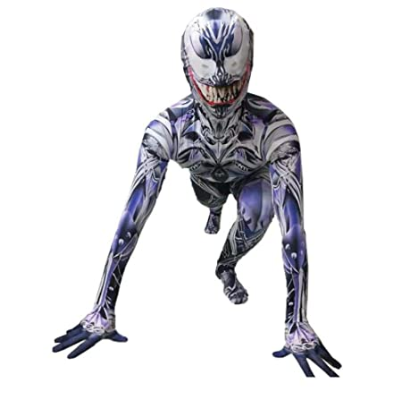 KOUYNHK Symbiote Spiderman Venom Costume Traje De Niños Mono ...