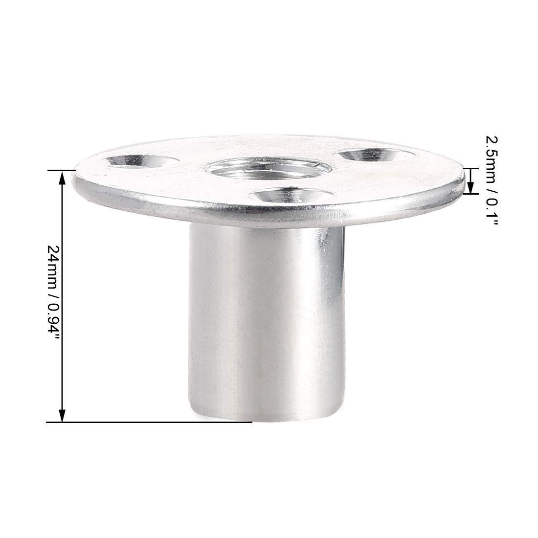Nut Karbonstahl M12 x 40 x 2,5 mm Schraubenzieher f/ür Tee T-Nut rund