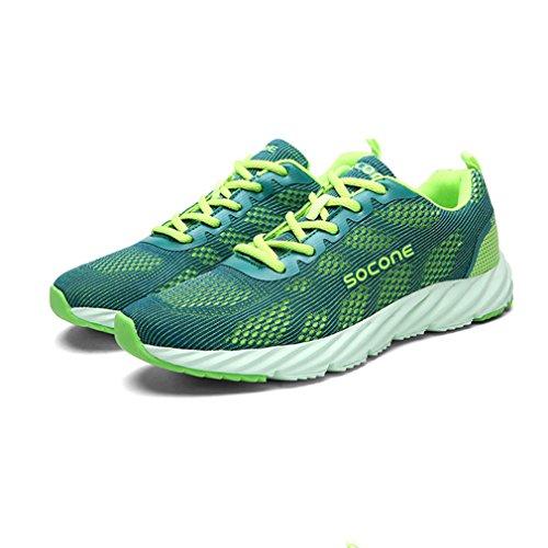 de Unisex Adulto Verde Zapatillas Atletismo LFEU de Malla R5OW1w
