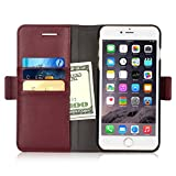 iXCC Detachable Folio Magnetic Cover Case [2 in 1] with Premium Leather and Credit Card Slots for iPhone 6s Plus / 6 Plus - Purple