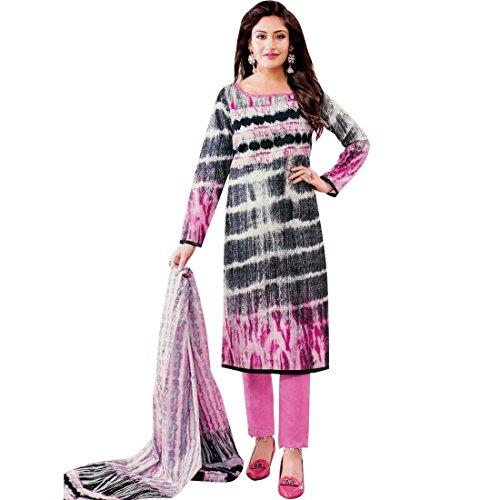 Ready to Wear Lawn Cotton Ethnic Printed Salwar Kameez suit Indian – 0X Plus, Black