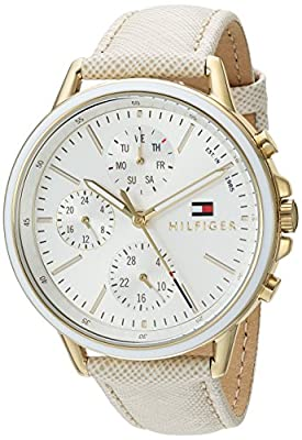 Tommy Hilfiger Women's Sport' Quartz Gold-Tone and Leather Casual Watch, Color:Champagne (Model: 1781790) from Tommy Hilfiger