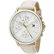 Tommy Hilfiger Women's 'Sport' Quartz Gold-Tone and Leather Casual Watch, Color Champagne (Model:...
