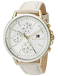 Tommy Hilfiger Women's 'Sport' Quartz Gold-Tone and Leather Casual Watch, Color:Champagne
