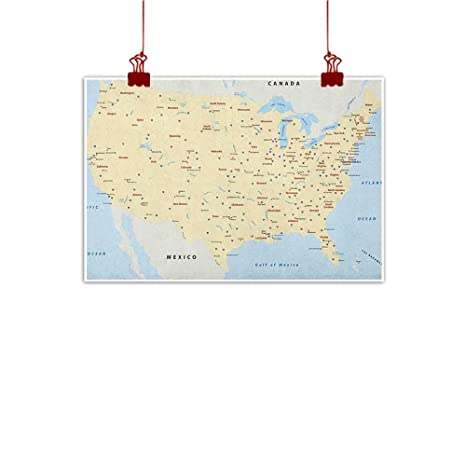 Amazon.com : Wall Art Painting Print Map, United States ... on chicagoland interstate map, complete interstate map, michigan interstate map, utah interstate map, national highway system, birmingham interstate map, south dakota interstate map, north america interstate map, pittsburgh interstate map, new york city interstate map, u.s. route 1, ohio interstate map, federal interstate map, vermont interstate map, mississippi interstate map, san diego interstate map, pan-american highway, puerto rico interstate map, midwest interstate map, interstate 40 map, interstate highway map, louisville interstate map, ga interstate map, u.s. route 66,