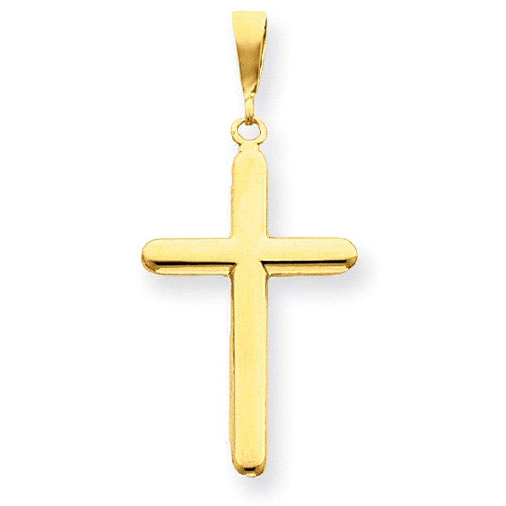 Lex /& Lu 14k Yellow Gold Polished Cross Pendant LAL74768