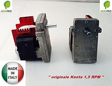 MOTORIDUTTORE KENTA 911 RPM 5000 K 1,5 M HORARIO MADE IN ITALY RADIADOR PELLETS: Amazon.es: Industria, empresas y ciencia