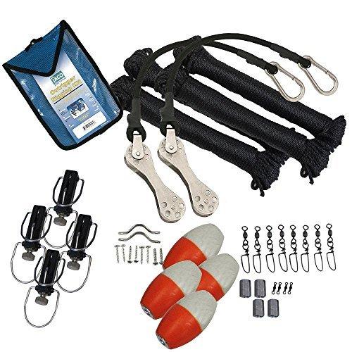 Taco Metals Marine Premium Double Rigging Kit for 2 Outriggers by Taco Metals by Taco Metals