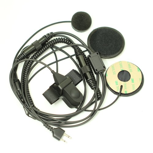 Full Face Moto Motorcycle Bike Helmet Earpiece Headset Mic Microphone for 2-pin Icom Maxon Yaesu Vertex Radio
