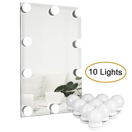 Luces LED Para Espejo WanEway, Estilo Hollywood, Kit De Luces Para Maquillaje Cosmético,