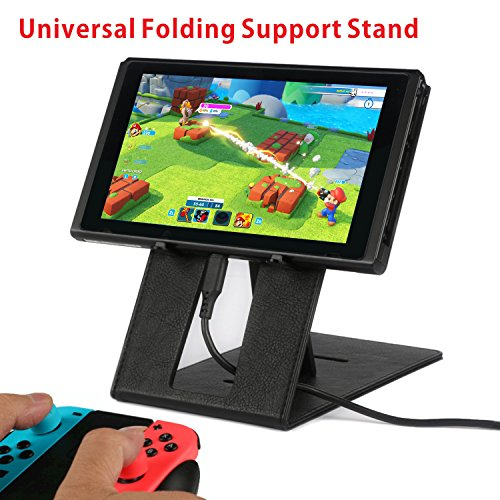 Nintendo Switch Holder Phone Stand Tablet PC Bracket Ebook Trestle Ultra-Thin lightweight Universal Folding Support,Use for Iphone/Ipad/Nintendo Series or More by ANGPO (Switch Arm)