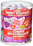Valentine's Day Conversation Craft Hearts Party Foam Decoration (285 Pack), Multi Color, Assorted Size