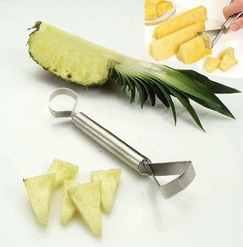 und Melonenschneider 2 in 1 Schneideger/ät Edelstahl ANANASSCHNEIDER DUO 00288 Ananas