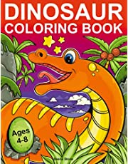Dinosaur Coloring Book for Kids: 50 Cute, Unique Coloring Pages | Great Gift For Boys & Girls, Ages 4-8