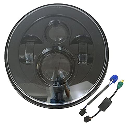 7 inch Daymaker Projector LED Headlight for Harley Black Motorcycle Projector Headlight Jeep Wrangler - Parts Unlimited Snowmobile