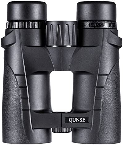 QUNSE Compact Binoculars for Adults Bird Watching Clearly – 8X42 High Definition Traveler Large-View – Novel Modeling and Lightweight – Binocular Great for Outdoor Sports Games and Concerts