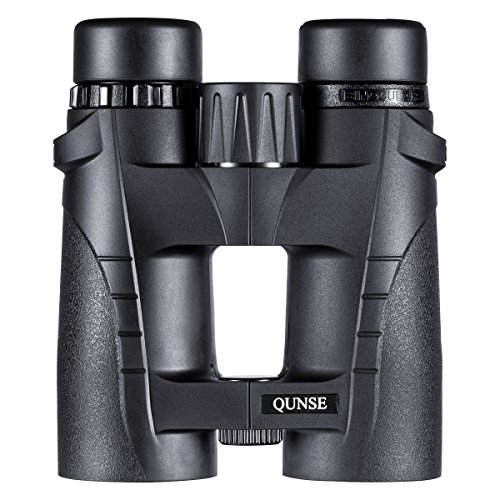 QUNSE Compact Binoculars for Adults Bird Watching Clearly - 8X42 High Definition Traveler Large-view - Novel Modeling and Lightweight - Binocular Great for Outdoor Sports Games and Concerts by QUNSE