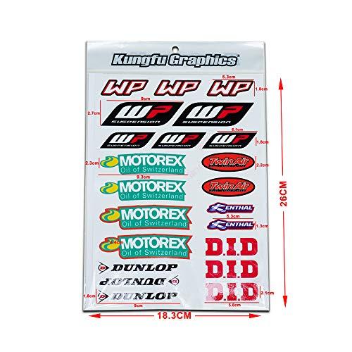 Kungfu Graphics Micro Sponsor Logo Racing Sticker