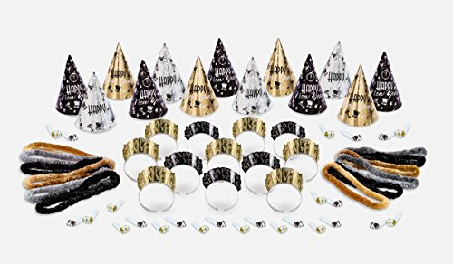 Amscan Elegant Eve New Year's Party Kit for 25 New Years Kit