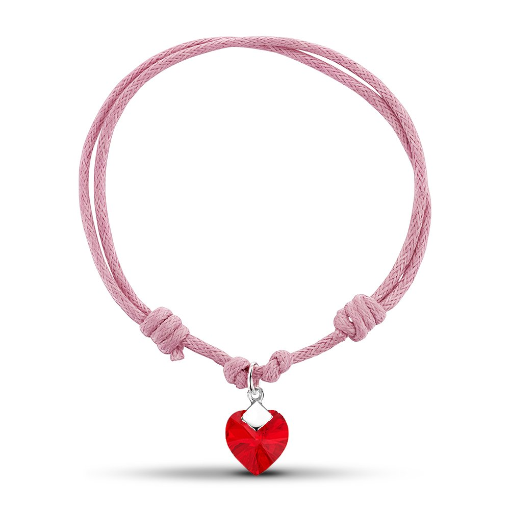 Jo for Girls Sterling Silber rosa Kordel Armband SWB01r