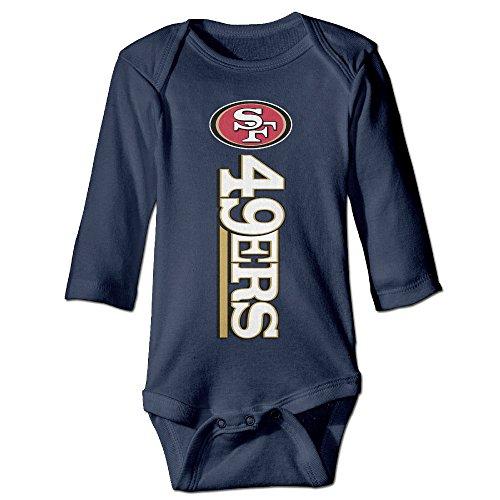 Price comparison product image Boxer98 Boy's & Girl's San Francisco Football Long Sleeve Bodysuit Baby Onesie