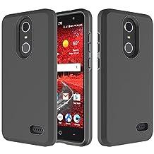 ZTE Grand X4 Case, ZTE Grand X 4 Z956 Case, Fettion Dual Layer Heavy Duty Scratch Resistant Flexible TPU Soft Protective Bumper Case Cover for ZTE Grand X4 2016 Smartphone (Black)