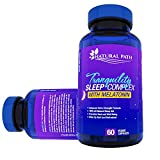 Tranquility Natural Sleep Aid – Best Sleeping Pills For Adults – Extra Strength Formula With Melatonin, 5-HTP, & Gaba for Deep Sleep – 60 Vegetarian Capsules