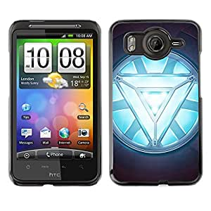 ROKK CASES / HTC G10 / ARC REACTOR GLOW / Delgado Negro Plástico caso cubierta Shell Armor Funda Case Cover