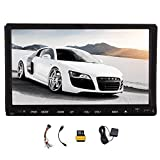 EinCar Double Din Car DVD CD Player Audio system in dash Stereo GPS Navigation 7'' Touch Screen Bluetooth Headunit Support Subwoofer iPod Steering Wheel Control AM FM Radio