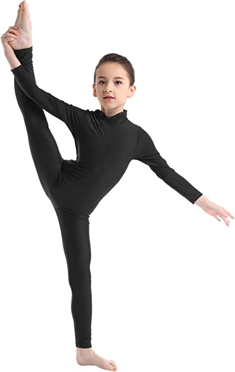 Kid Girls Long Sleeve Ballet Dance Leotard Fitness Gymnastics Dancewear Costume