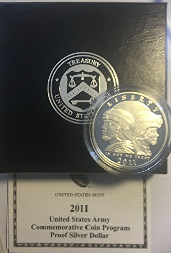 - 2011 P US ARMY Comm Silver Comes in US Mint Packaging Dollar Proof US Mint