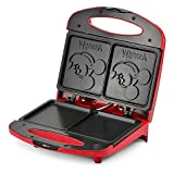 Disney Mickey Mouse Sandwich Maker | Non-Stick Cooking Plates - Metal