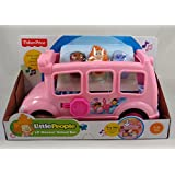 Fisher Price Little People Lil' Movers Pink School Bus Ages 1-5 Years by Dubblebla