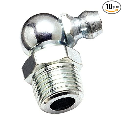 10-Pack OEMTOOLS 25792 1//8 Inch 90-Degree PTF Grease Fittings