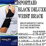 Sport Aid Black Deluxe Wrist Left Small sa3900