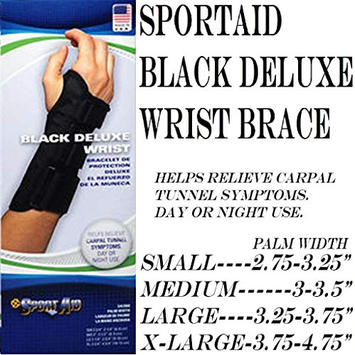 Sport Aid Black Deluxe Wrist Left Small sa3900 by SportAid